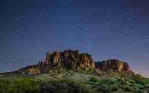 Night time desert