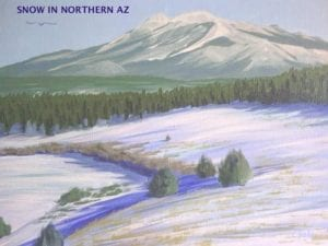 SNOW IN NORTHERN AZ